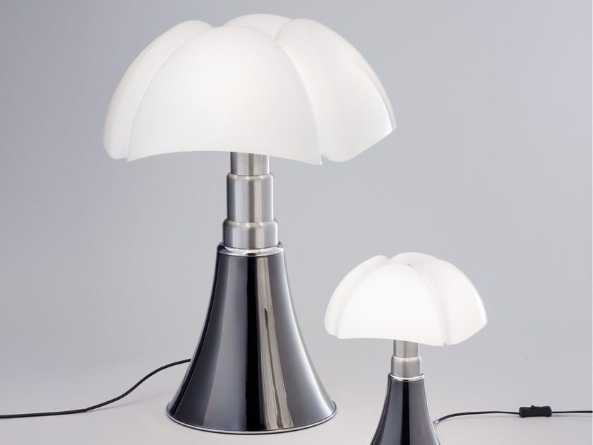 Titanium table lamp PIPISTRELLO TITANIUM VERSION by Martinelli Luce