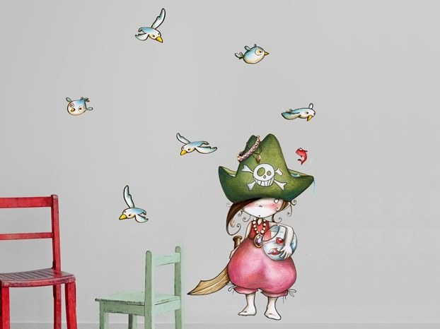 Kids wall sticker PIRATA STAND UP by ACTE-DECO