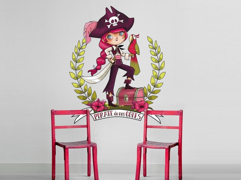 Kids wall sticker PIRATE BOY/GIRL by ACTE-DECO