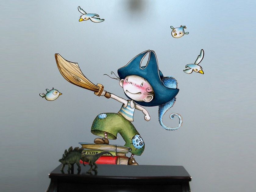 Kids wall sticker PIRATE STRAIGHT AHEAD by ACTE-DECO