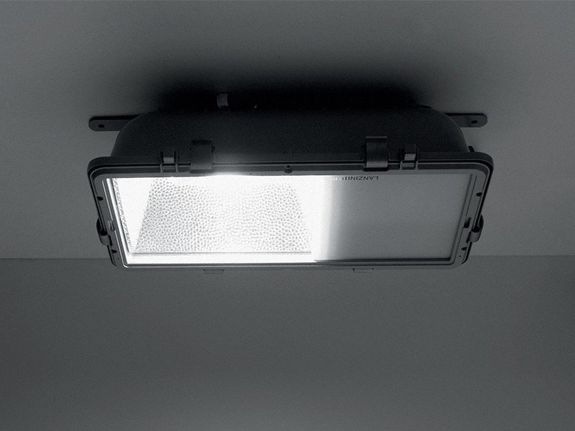 Aluminium ceiling light PIREO by LANZINI