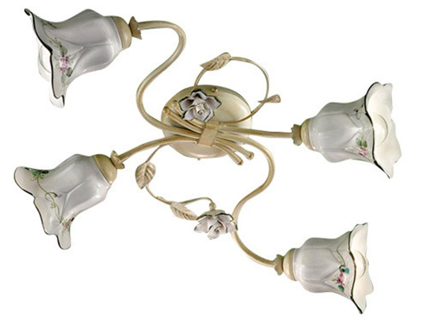 Ceramic ceiling lamp with fixed arm PISA | Ceiling lamp by FERROLUCE