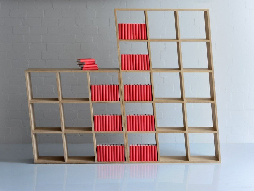 Solid wood bookcase PISA by Vitamin Design