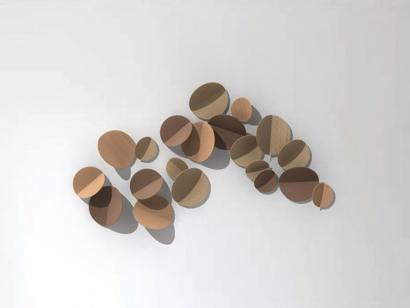Sculptural wall decoration in ceramics PISCO by Gardeco