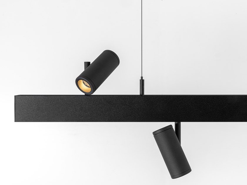 LED direct-indirect light pendant lamp PISTA SUSPENSION UP/DOWN by Modular Lighting Instruments