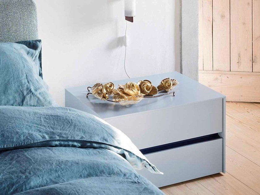 Rectangular bedside table with drawers PITAGORA | Bedside table by Novamobili