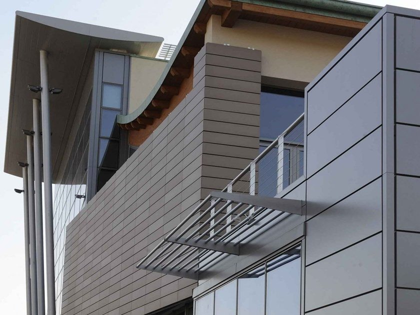 Hollow-core clay slab for facade PITERAK® XS by Terreal SanMarco