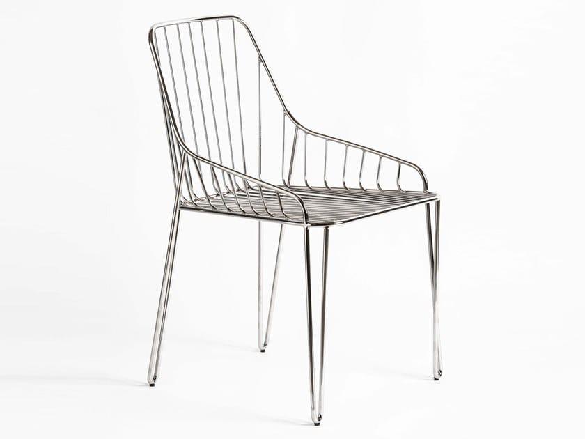 Metal garden chair PIUMA by RIFLESSI