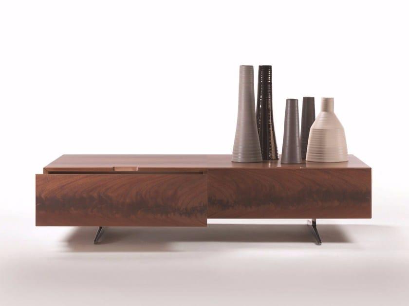 Square wooden coffee table PIUMA | Square coffee table by FLEXFORM