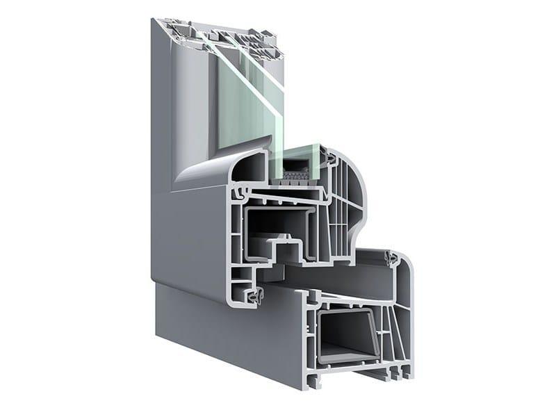 Finestra a battente con doppio vetro in PVC PIVA ESCLUSIVA by PIVA GROUP