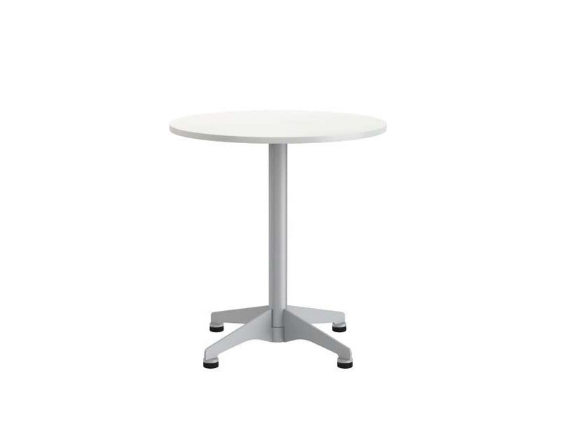 Drop-leaf round table with 4-star base PIVOT by Brunner