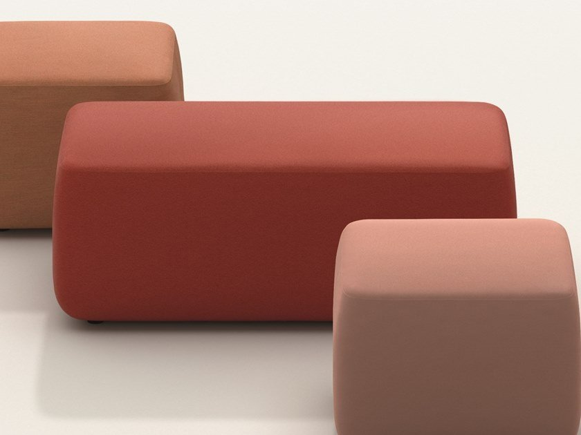 Rectangular fabric pouf PIX CUBO | Rectangular pouf by arper