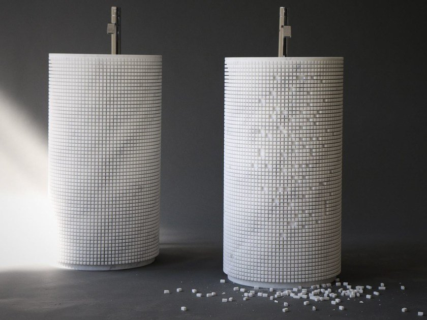 Lavabo freestanding rotondo in marmo PIXEL - Antonio Lupi Design