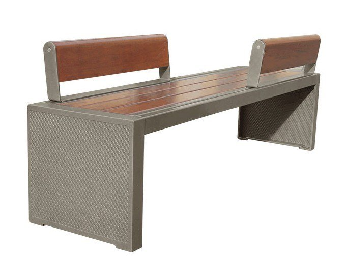 Bench with back PIXEL   Bench with back by GHM-ECLATEC