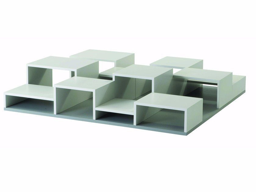 Coffee table with integrated magazine rack for living room PIXL | Coffee table by ROCHE BOBOIS