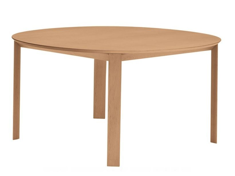 Round beech table PLA 2112Y by Capdell