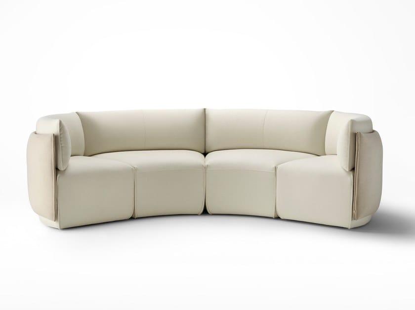 Sofá secional curvo de tecido PLACE | Sofá curvo by Ross Gardam