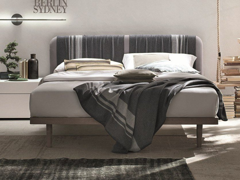Double bed with upholstered headboard PLAID | Bed by Gruppo Tomasella