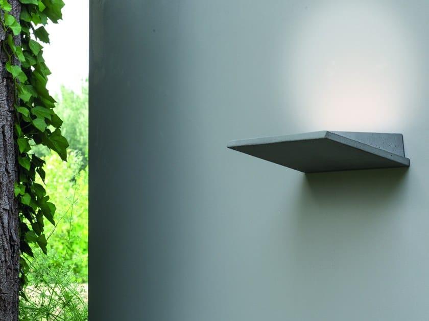 Lampada da parete a LED a luce indiretta in cemento PLAN by Martinelli Luce