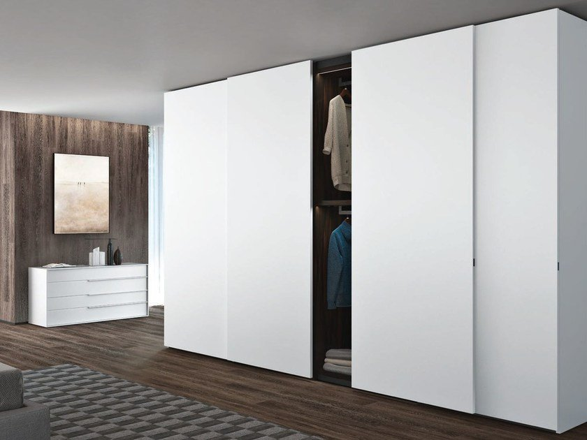 Charmant Lacquered Wardrobe With Sliding Doors PLANA | Wardrobe With Sliding Doors  By JESSE