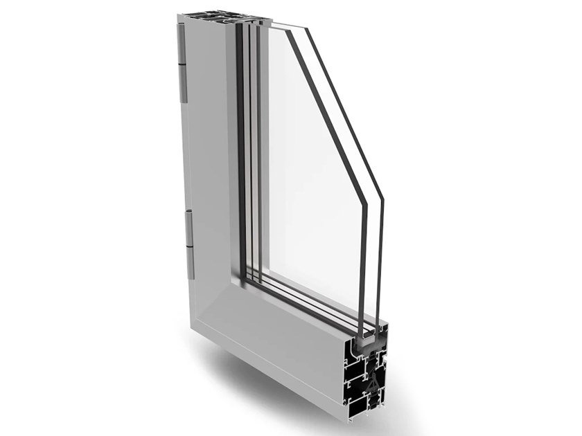 Aluminium casement window PLANET 50 PLUS by ALsistem