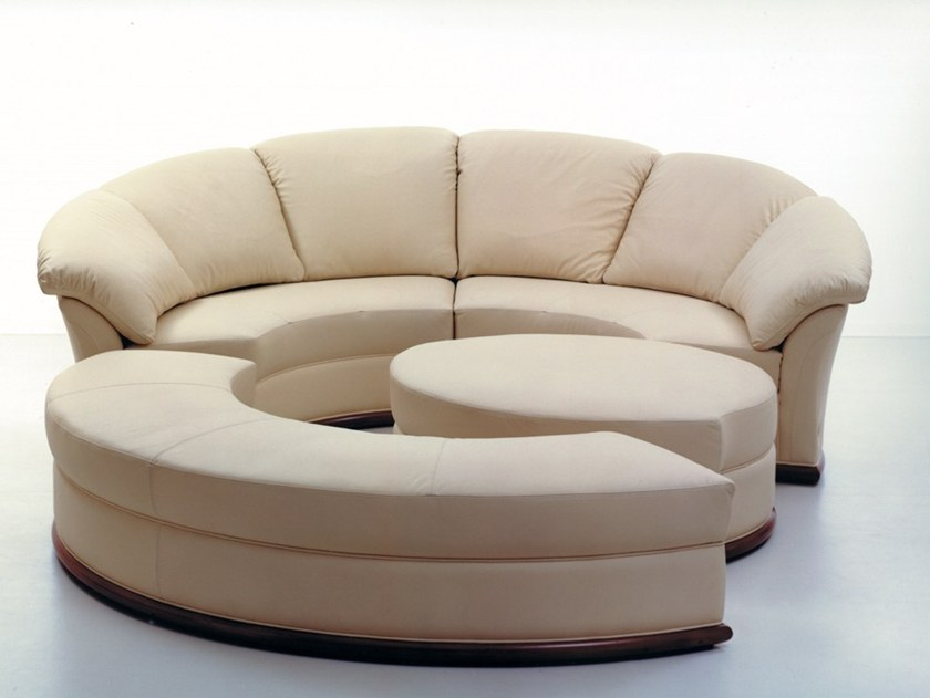 Sectional Curved Leather Sofa PLANET | Curved Sofa By Nieri