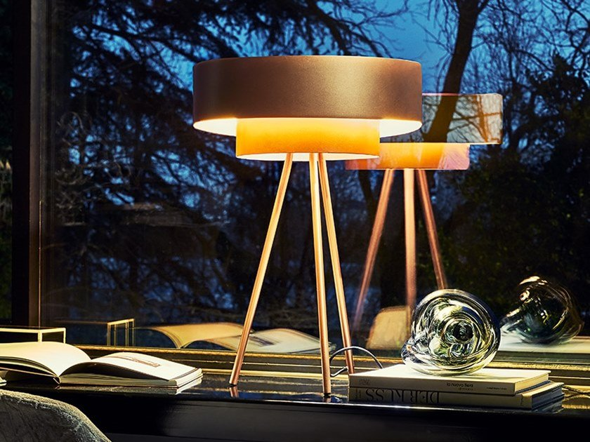 Metal table lamp PLANET by RIFLESSI