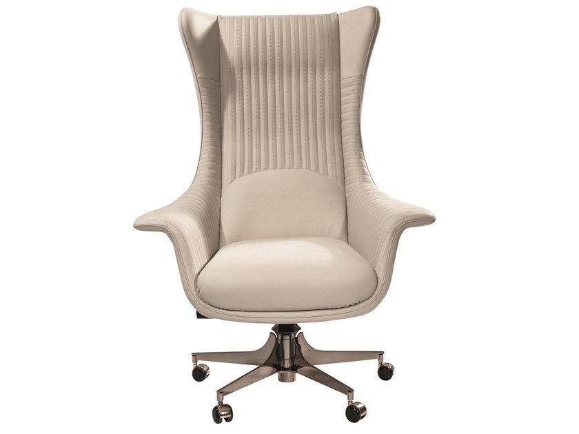 Executive chair with 5-spoke base with castors PLANET by Visionnaire