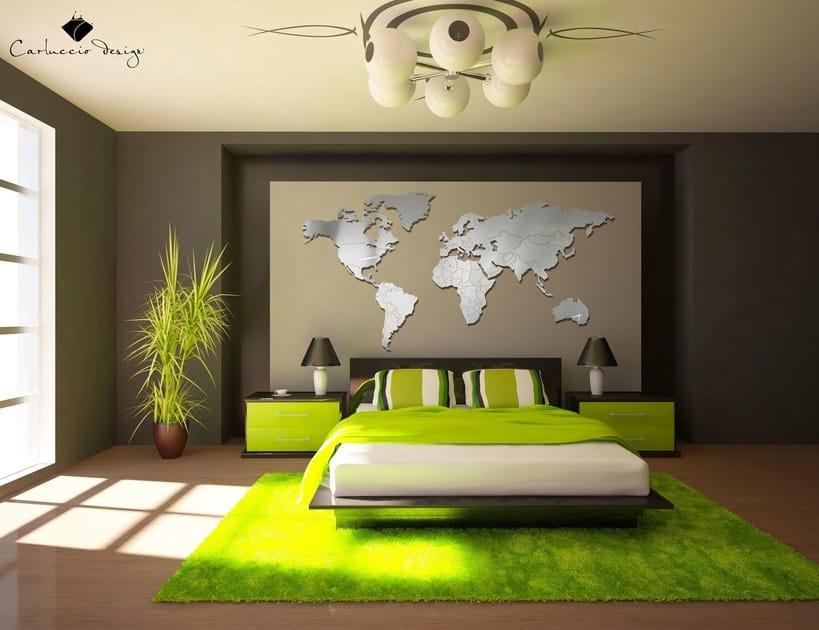 Contemporary style wall-mounted steel clock PLANISFERO 2XL | Clock by Carluccio Design