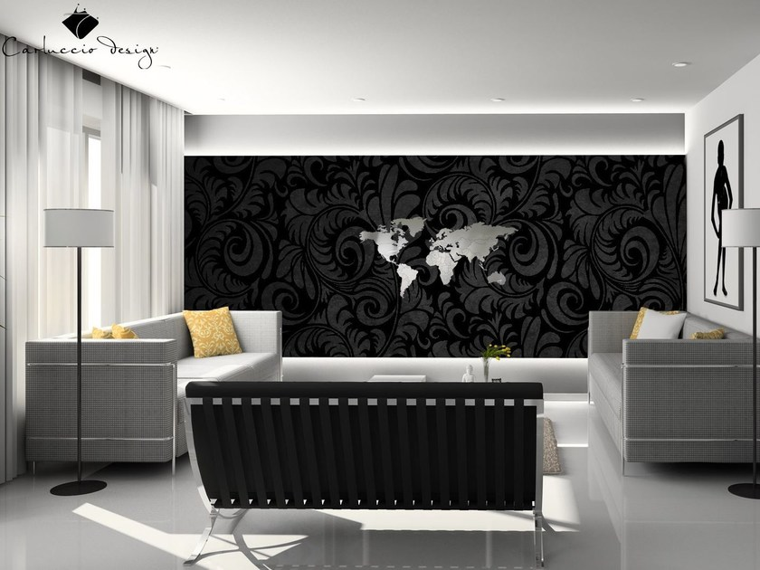 Contemporary style wall-mounted steel clock PLANISFERO XS | Clock by Carluccio Design
