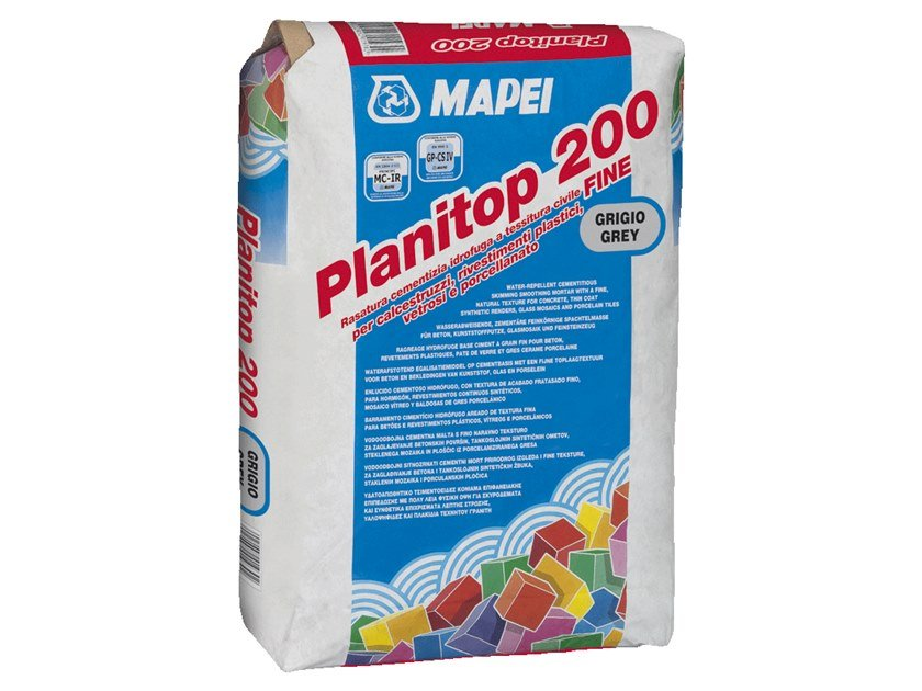 Skim coat and cementitious finish for plaster PLANITOP 200 by MAPEI