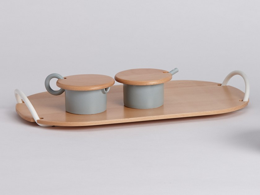 Oval wooden tray PLANK | Tray by ZENS Lifestyle