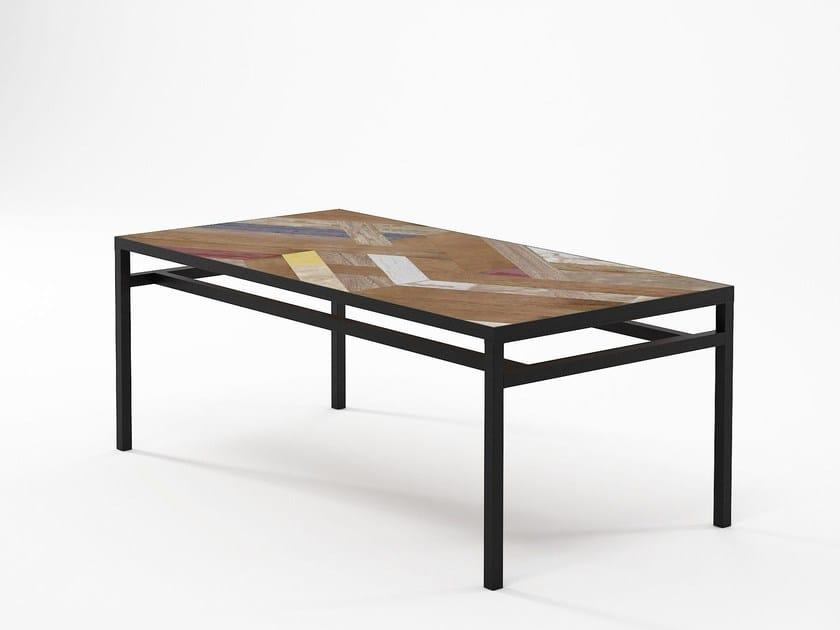 Low Rectangular Coffee Table Planke 100 By Karpenter