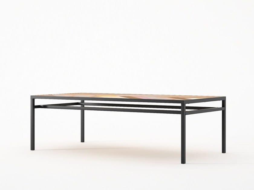 Low Rectangular Coffee Table Planke 120 By Karpenter