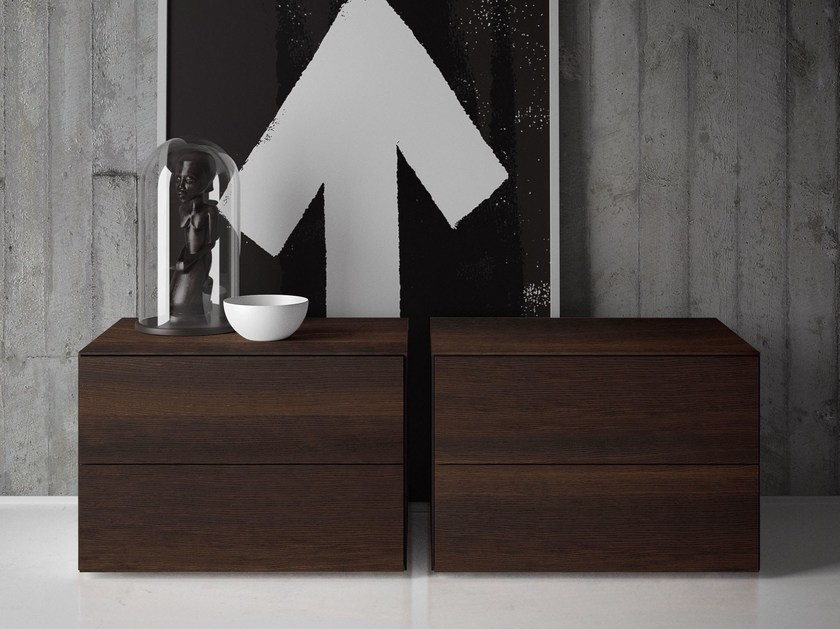 Bedside table with drawers PLANO by PIANCA