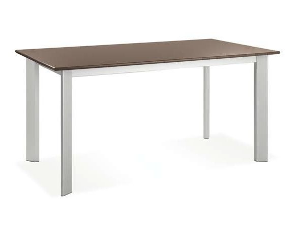 Extending rectangular laminate table PLANO by CREO Kitchens