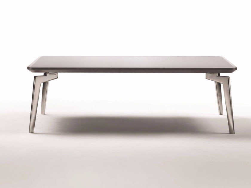 Low rectangular solid wood coffee table PLANO | Rectangular coffee table by FLEXFORM