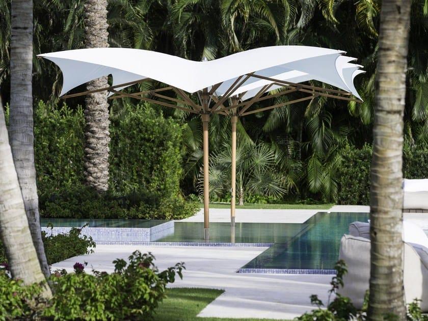 Square Garden umbrella PLANTATION MAX MANTA by TUUCI