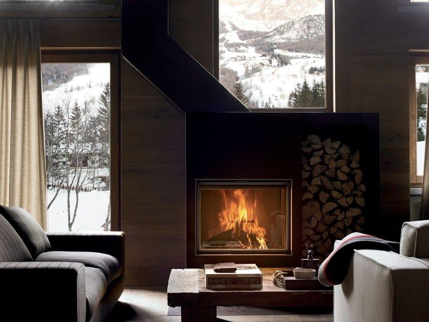 Caminetto a legna incassato con vetro panoramico PLASMA 85 WOOD by MCZ