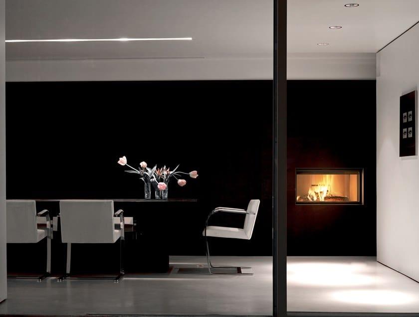 Caminetto a legna incassato con vetro panoramico PLASMA 95 WOOD by MCZ
