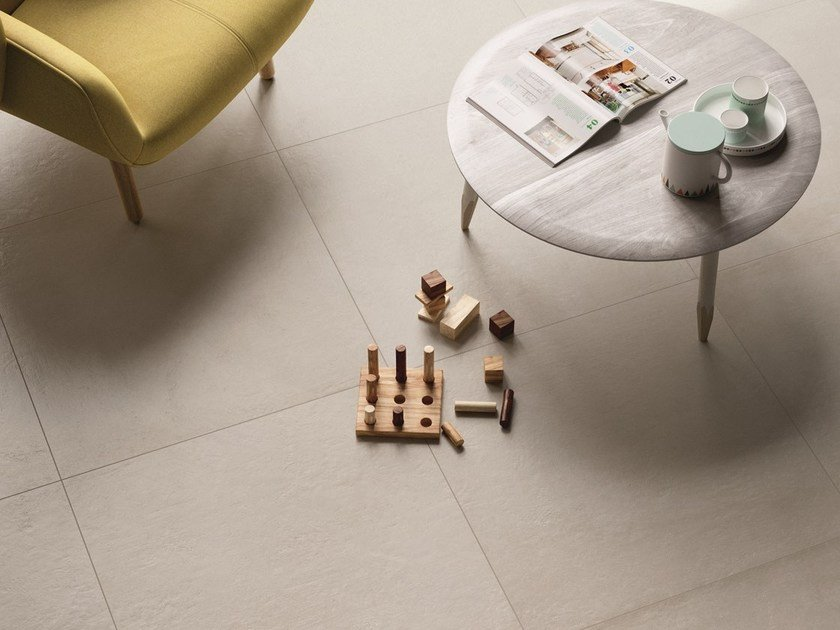 Indoor/outdoor full-body porcelain stoneware wall/floor tiles PLASTER by MARAZZI