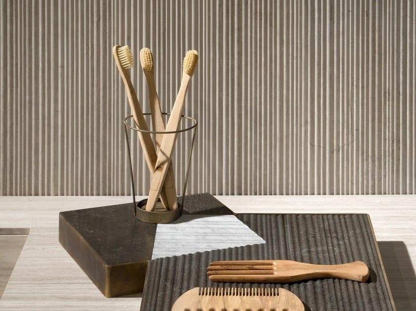Countertop metal toothbrush holder PLAT-EAU Bath 02 + 03 + 04 by SALVATORI