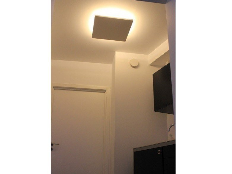 Plaster ceiling lamp PLAT by GESSO
