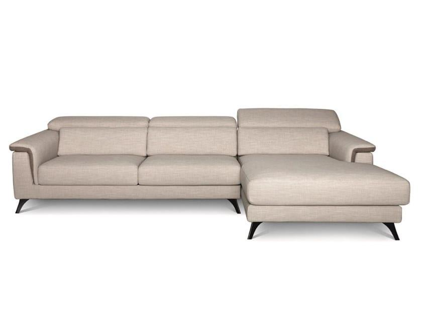 Divano reclinabile in tessuto con chaise longue PLATEALE 02 by Febal Casa