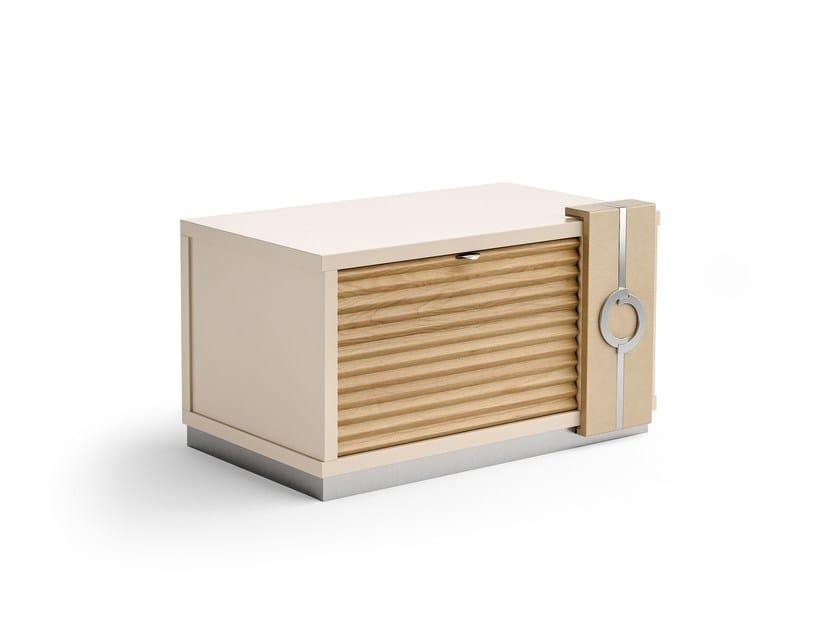 Rechteckiger Nachttisch Aus Holz Im Modernen Stil Mit Schubladen PLATEAU |  Nachttisch Aus Leder By Caroti