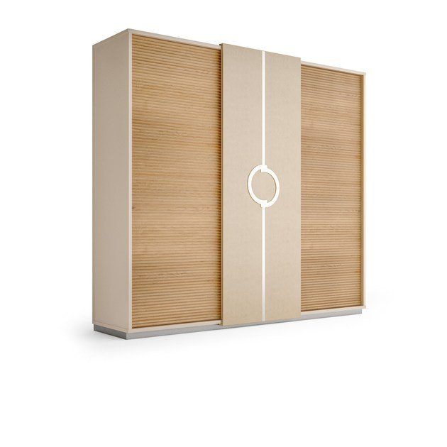 Contemporary style lacquered wooden wardrobe with sliding doors with drawers PLATEAU | Wardrobe with sliding doors by Caroti