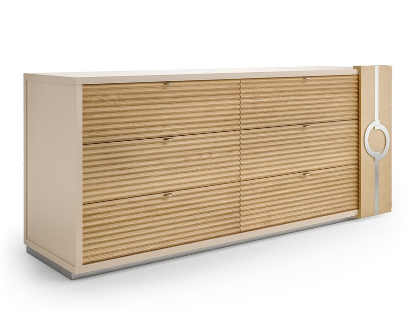 Wooden chest of drawers PLATEAU | Chest of drawers by Caroti