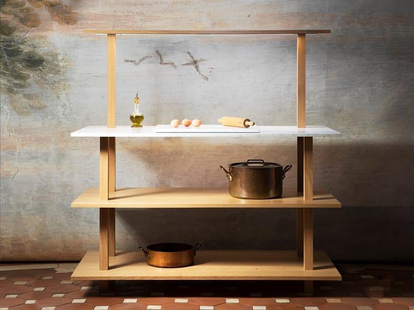 Marble kitchen unit GRAND ÉTABLI   Marble kitchen unit by Objets Architecturaux