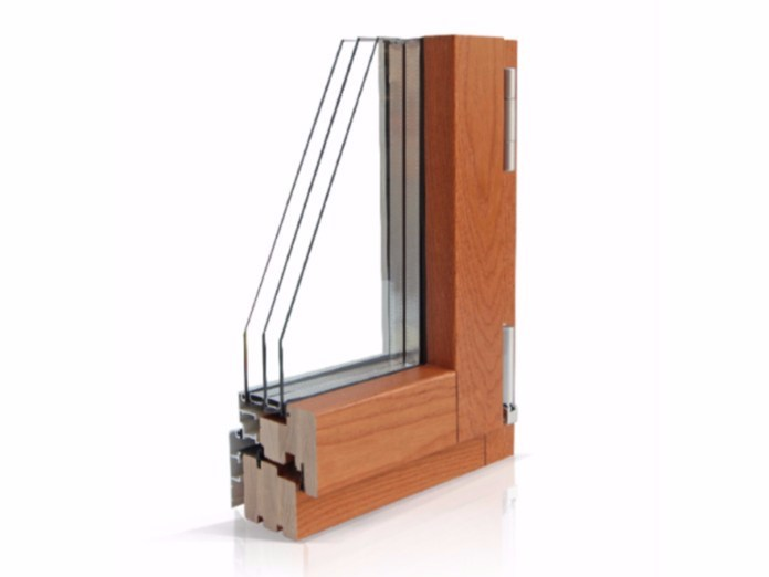 Wood and aluminium casement window PLATINUM 900 QUADRA 90° | Triple glazed window by Cos.Met.