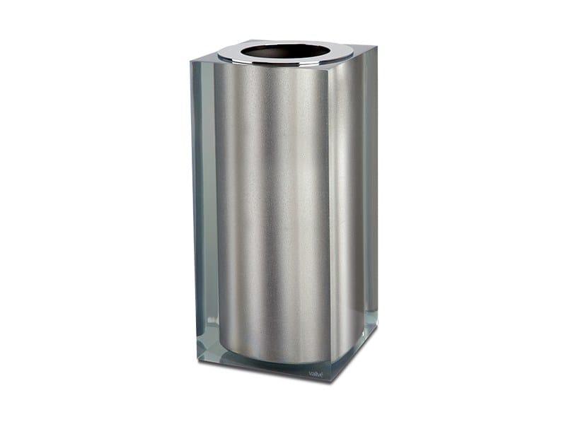 Resin Bathroom Waste Bin Platinum Gloss Small By Vallvé
